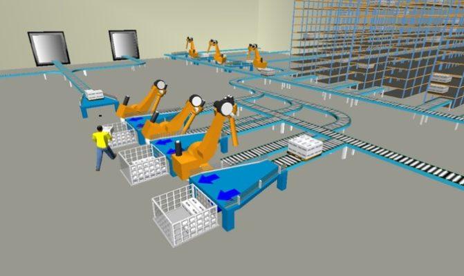 Simulation et optimisation de flux Flexsim